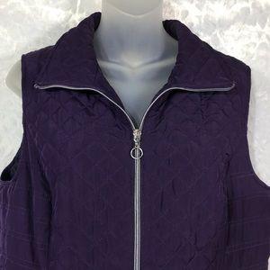 Christopher & Banks Jackets & Coats - Christopher & Banks purple quilted vest coat M